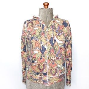 🎀 Forever 21 Multicoloured Paisley Floral Sweater